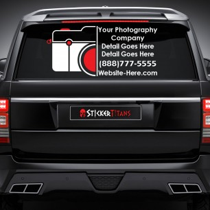 Photography Style 04 Rear Glass Decal