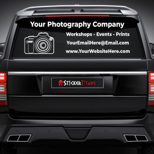 Photography Style 05 Rear Glass Decal