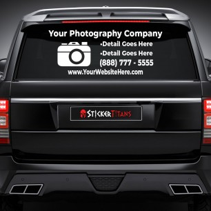 Photography Style 07 Rear Glass Decal