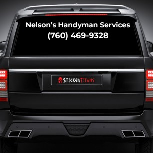 2 Line Rear Glass  Decal