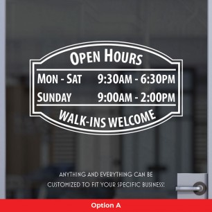 Open Hours Style 01